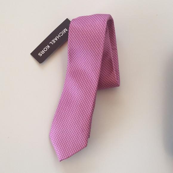 Michael Kors Pink Silk Textured Tie